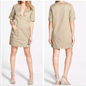 NWOT Amour Vert Khaki Dress